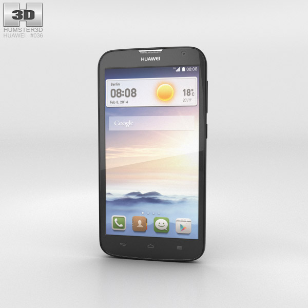 Huawei Ascend G730 Black 3d model