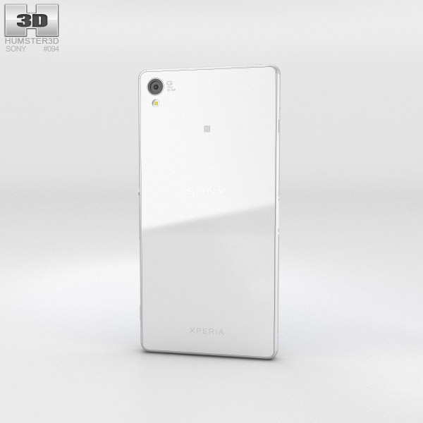 Sony Xperia Z3 White 3d model