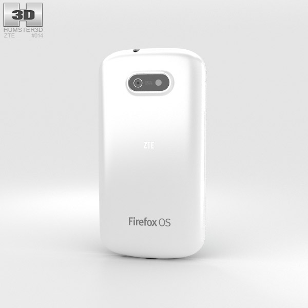 ZTE II Open White 3d model