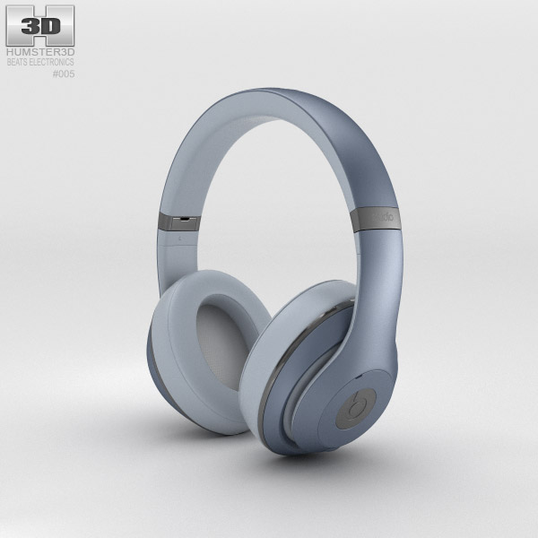 Beats by Dr. Dre Studio Over-Ear Headphones Metallic Sky 3d model