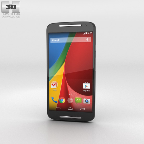 Motorola Moto G (2nd Gen) Black 3d model
