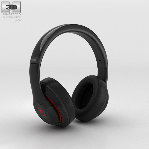 Beats by Dr. Dre Studio Over-Ear Headphones Black 3d model