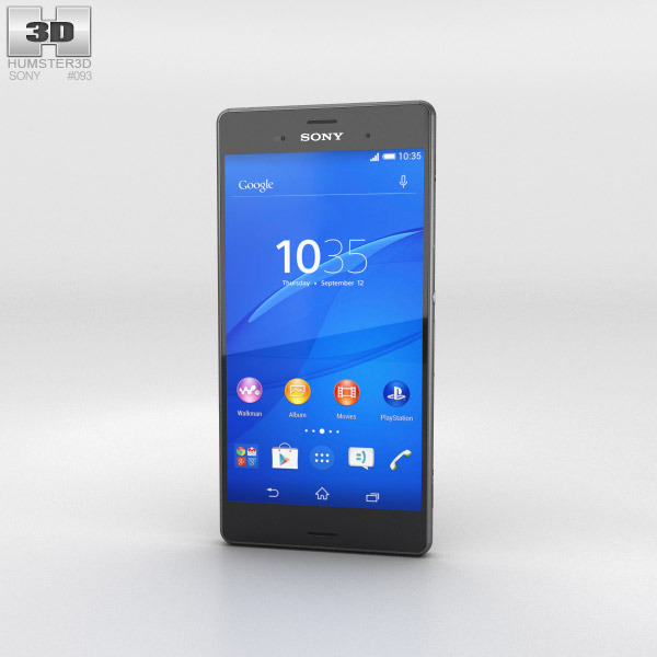 Sony Xperia Z3 Black 3d model