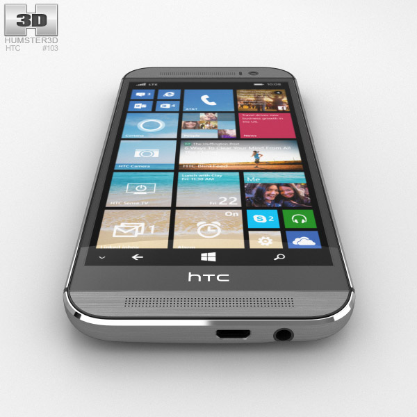 HTC One (M8) Windows Phone Gunmetal Gray 3D model - Hum3D