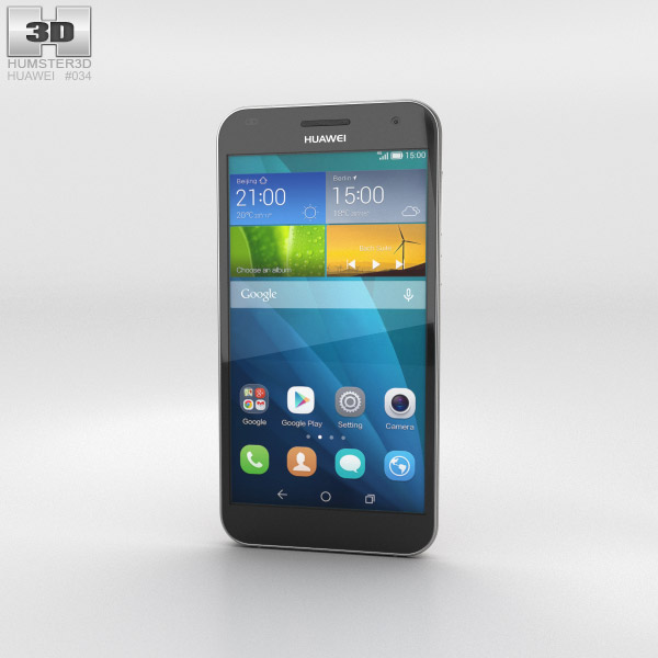 Huawei Ascend G7 Gold 3d model