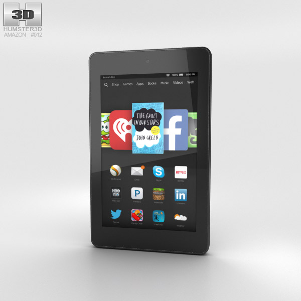 Amazon Fire HD 6 Black 3d model