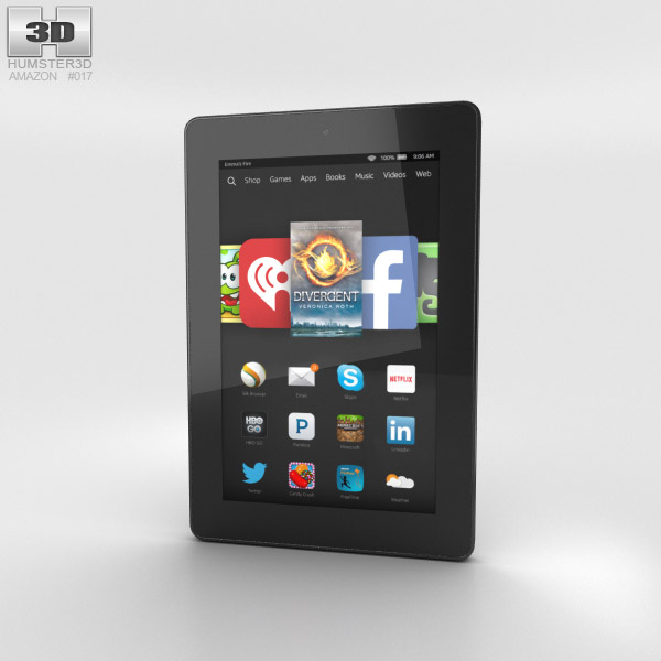 Amazon Fire HD 7 Black 3d model