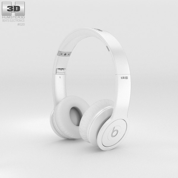Beats by Dr. Dre Solo HD Matte White 3d model