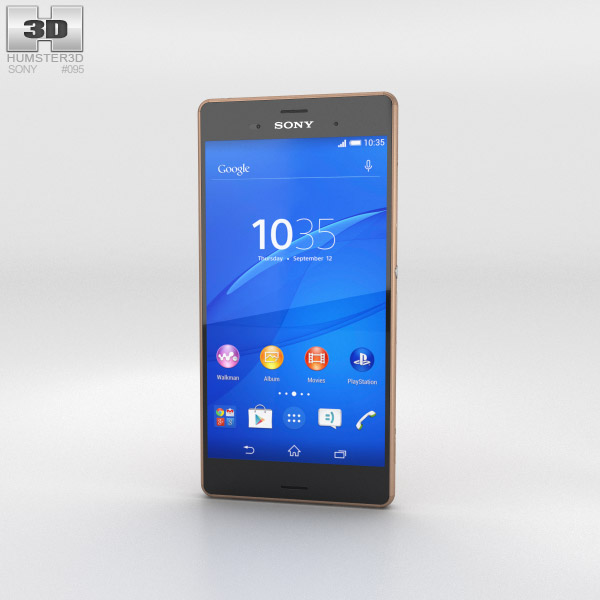 Sony Xperia Z3 Copper 3d model