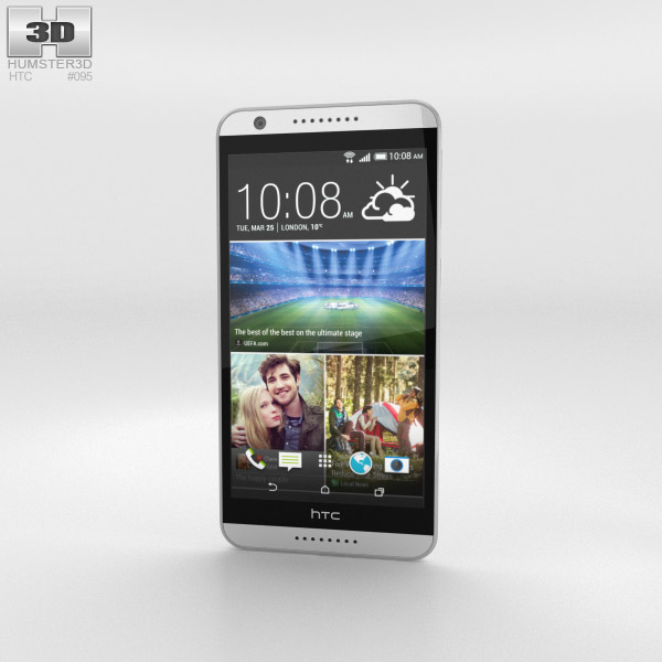 HTC Desire 820 Marble White 3d model