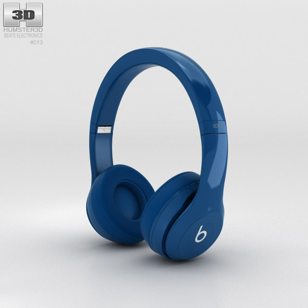 Beats by Dr. Dre Solo2 On-Ear Headphones Blue 3d model