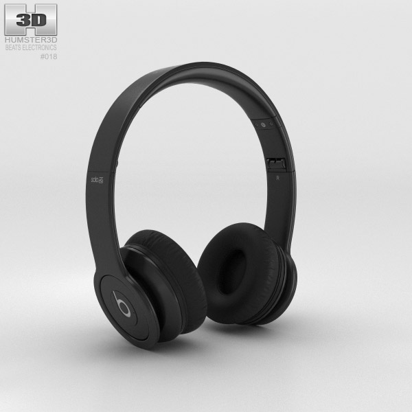 Beats by Dr. Dre Solo HD Matte Black 3d model
