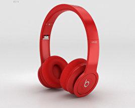 Beats by Dr. Dre Solo HD Matte Red 3D model