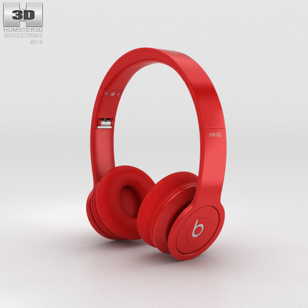 Beats by Dr. Dre Solo HD Matte Red 3d model