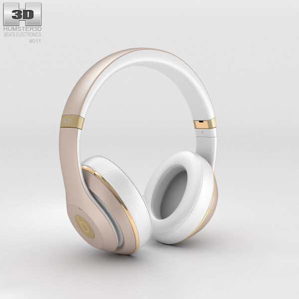 Beats by Dr. Dre Studio Over-Ear Headphones Champagne 3d model