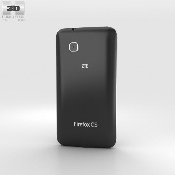 ZTE Open C Black 3d model