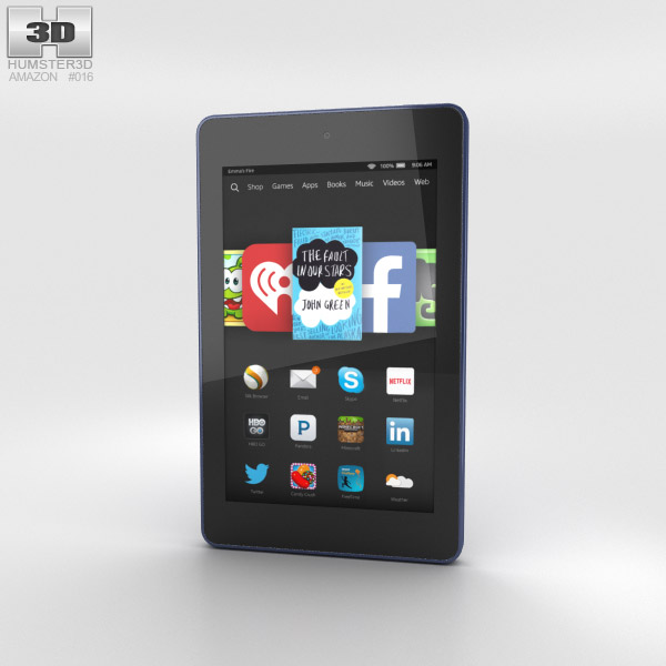 Amazon Fire HD 6 Cobalt 3d model