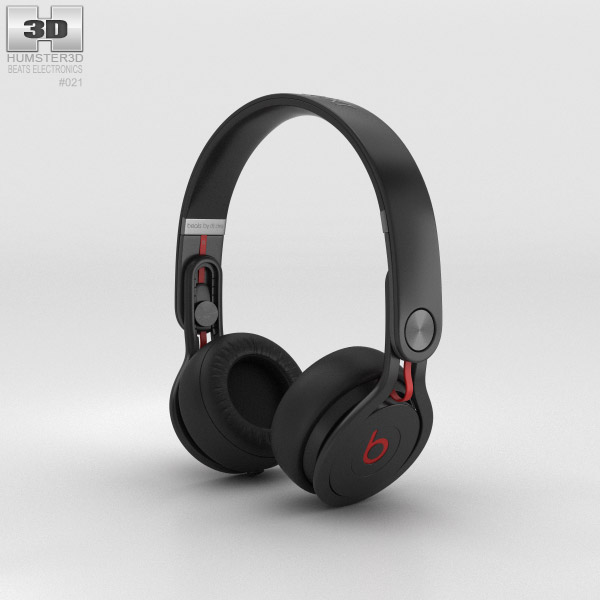 Beats Mixr High-Performance Professional Black 3d model
