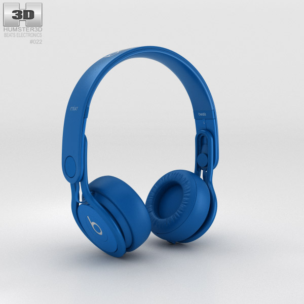 Beats Mixr High-Performance Professional Blue 3d model