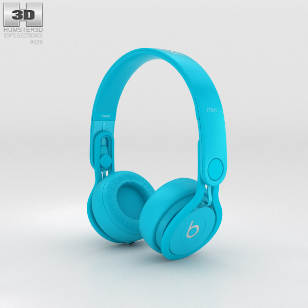 Beats Mixr High-Performance Professional Light Blue 3d model
