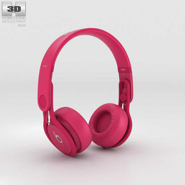 Beats Mixr High-Performance Professional Pink 3d model