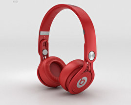 Beats Mixr High-Performance Professional Red 3D model
