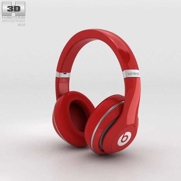 Beats by Dr. Dre Studio Wireless Over-Ear Red 3d model