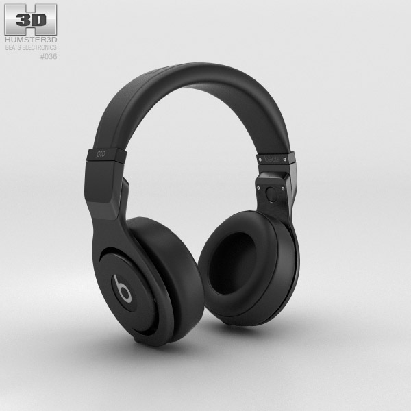 Beats Pro Over-Ear Headphones Black 3d model