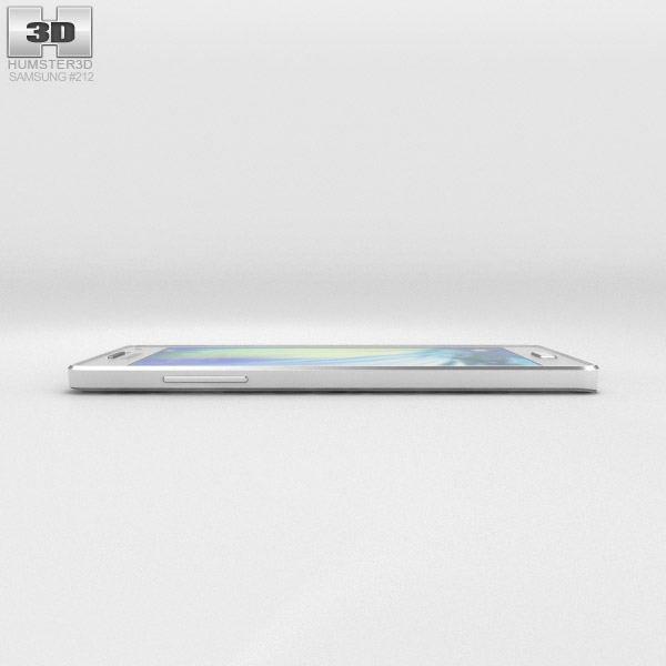 Samsung Galaxy Alpha A3 Pearl White 3D Model