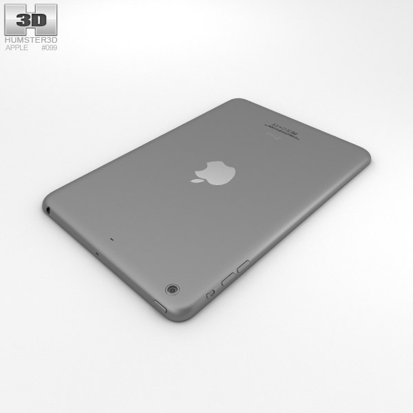 apple ipad mini 2 space grey 3d model hum3d. Black Bedroom Furniture Sets. Home Design Ideas