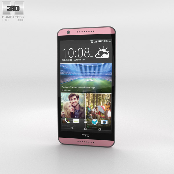 HTC Desire 820 Flamingo Grey 3d model