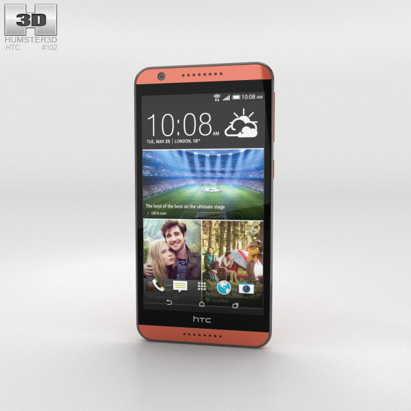 HTC Desire 820 Monarch Orange 3d model