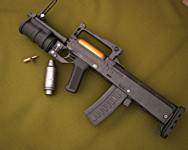 OTs-14 Groza 3D model