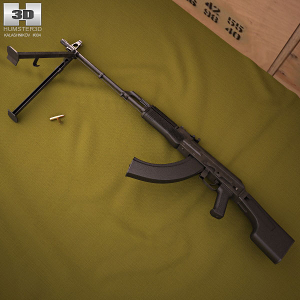RPK-74M 3d model