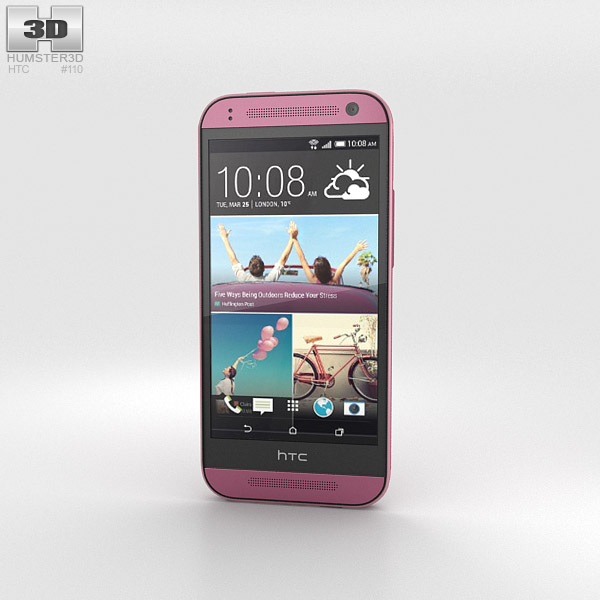 HTC One Mini 2 Pink 3d model