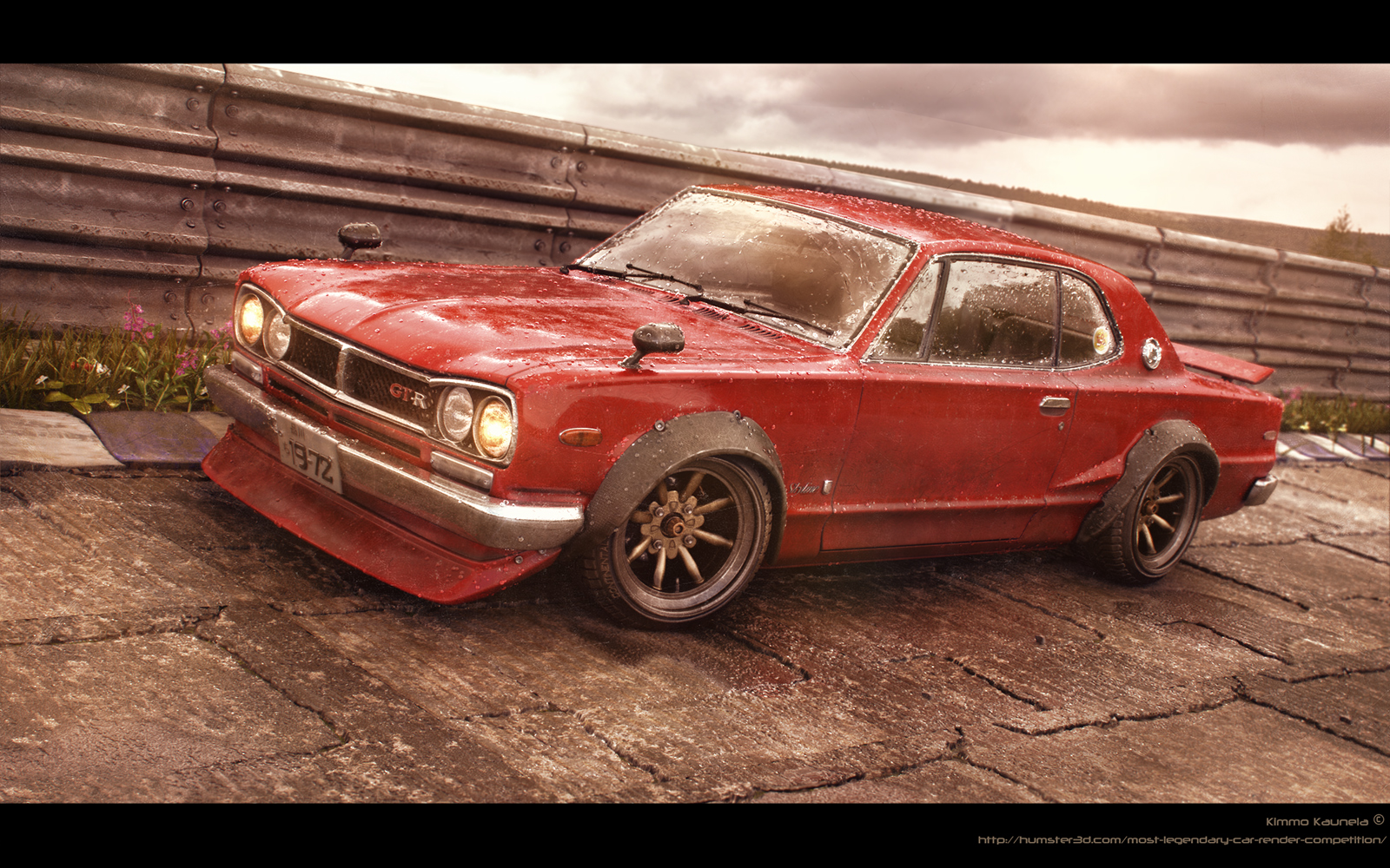 Red Baron – Nissan Skyline -72 3d art