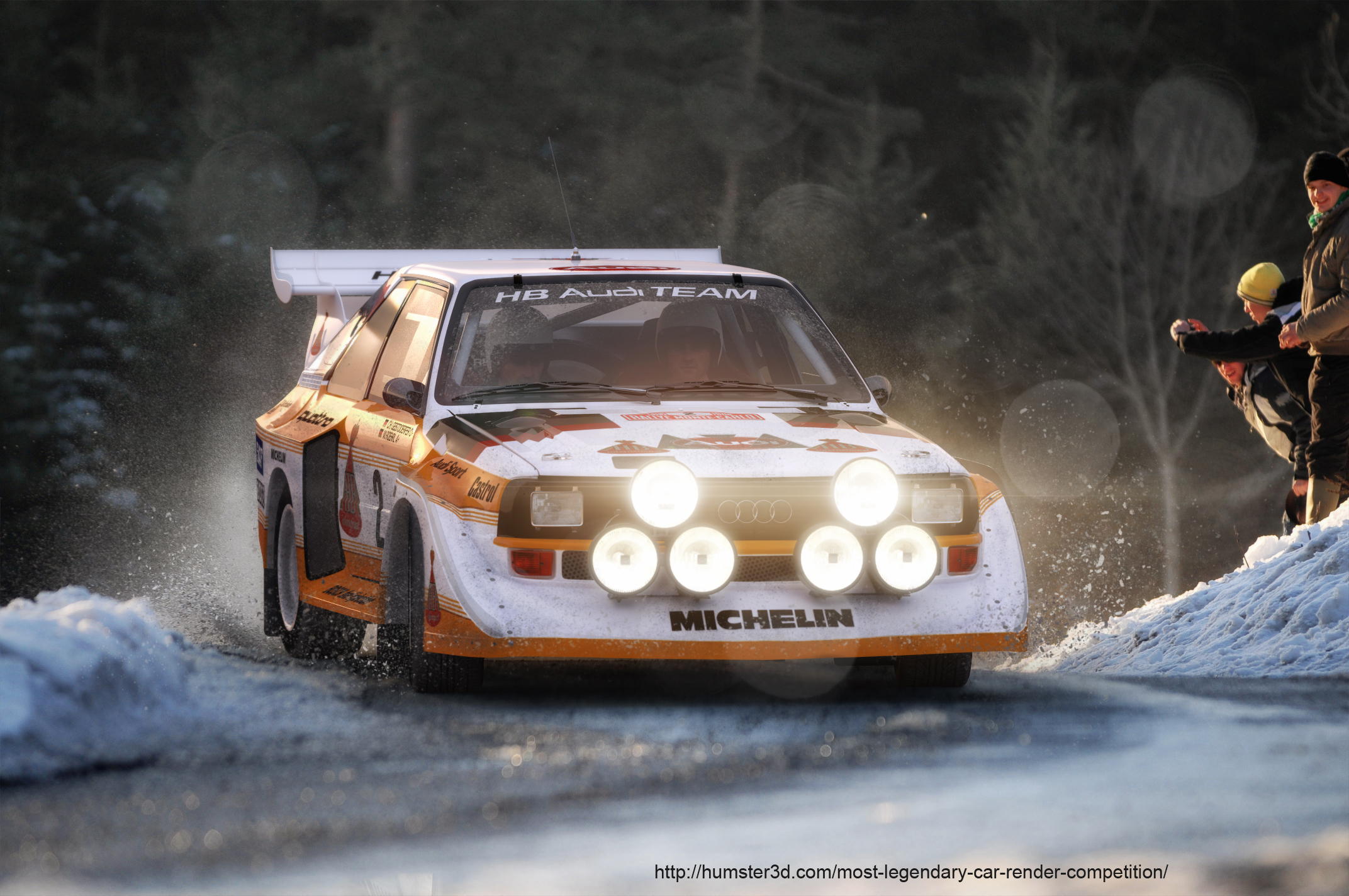 Walter Roehrl and his AUDI Quattro 3d art