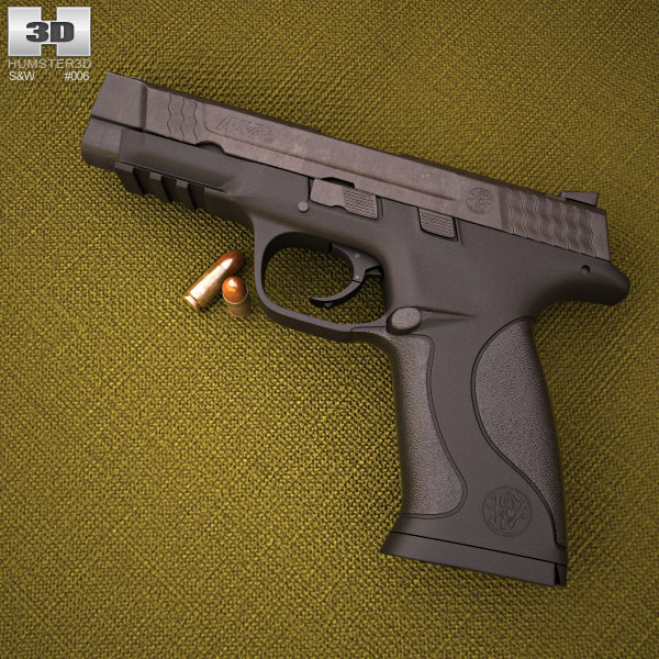 Smith & Wesson M&P .45 3d model