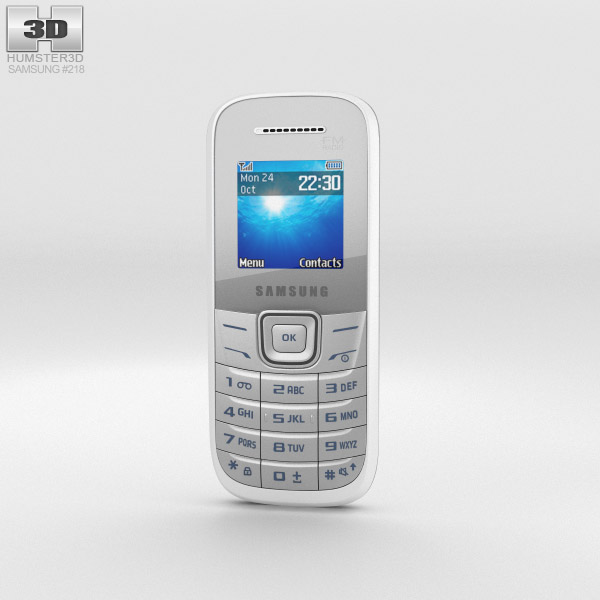 Samsung E1205 White 3d model