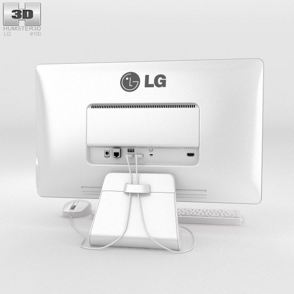 LG Chromebase White 3d model