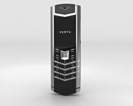 Vertu Signature Stainless Steel Black Leather 3D model