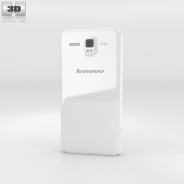 Lenovo Golden Warrior A8 White 3d model