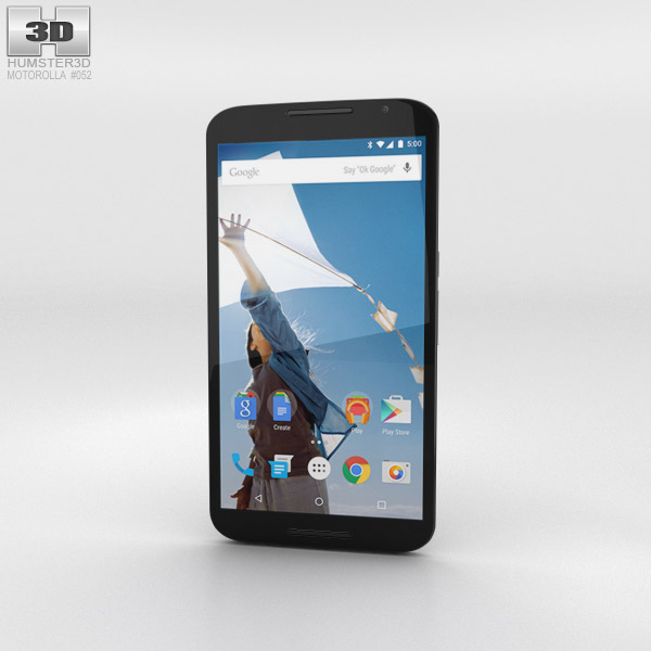 Motorola Nexus 6 Midnight Blue 3d model