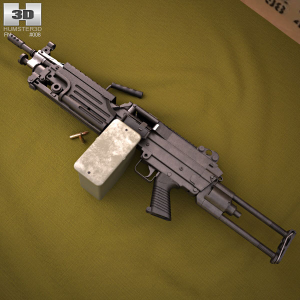 M249 Para light machine gun 3d model