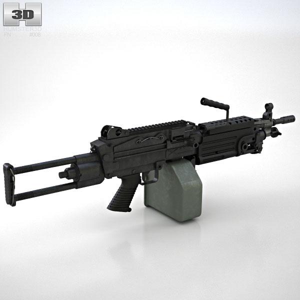 M249 Para light machine gun 3D model