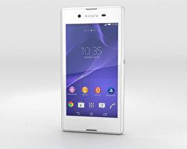 Sony Xperia E3 White 3D model