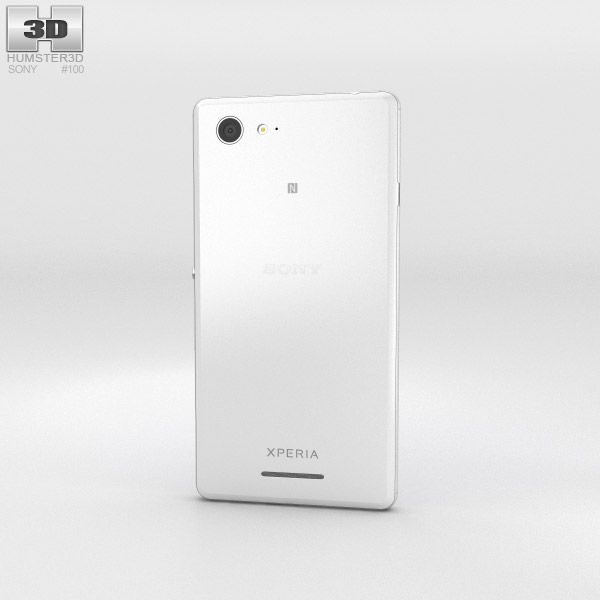 Sony Xperia E3 White 3d model