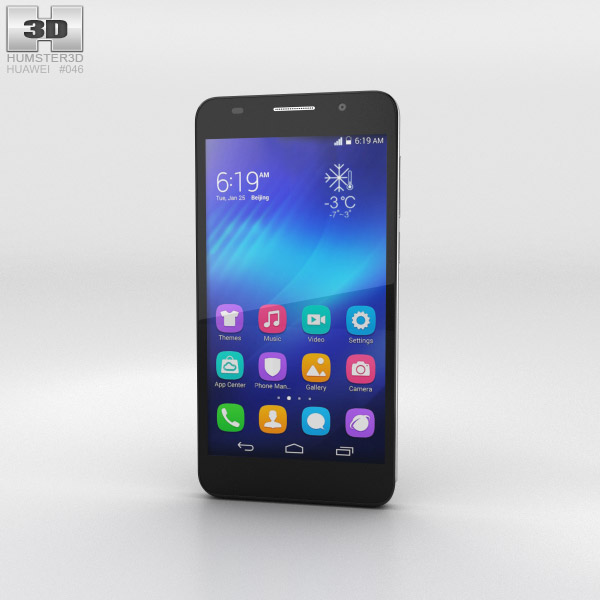 Huawei Honor 6 Black 3d model