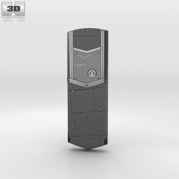 Vertu Signature Zirconium Alligator 3d model