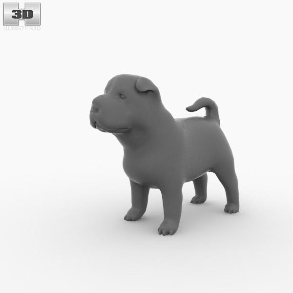 Shar Pei Puppy 3d Model Animals On Hum3d